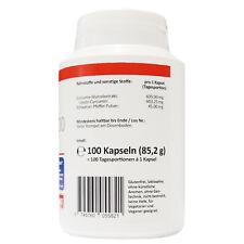 Kurkuma 95% Extrakt 100 Curcumin Kapseln entspricht 20.000mg Curcuma Pulver