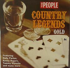 COUNTRY LEGENDS GOLD Promo CD KENNY ROGERS DOLLY PARTON Tammy Wynette