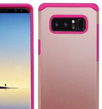 Samsung Galaxy Note 8 - Hard Hybrid Armor Impact Phone Case Cover Rose Gold Pink