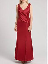 ARIELLA John Lewis Rose Satin Long Maxi Evening Party Red Dress Size 10 RP£175