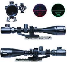 6-24X50 AOEG Rifle Scope Dual illuminated with Red Laser Sight & PEPR Rail Mount