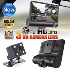 New listing 3 Lens Hd 1080P Vehicle Car Dvr Dash Cam 3way Video Rearview Camera G-sensor Us