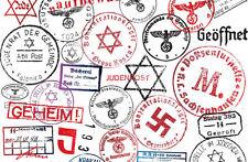 Incorniciato stampa-Germania nazista INCHIOSTRO TIMBRI (foto poster arte tedesca passaporto FLY)