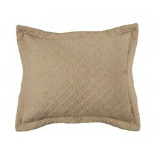 TWO CROSCILL FULTON TAUPE KING SHAMS QUILTED - NEW)
