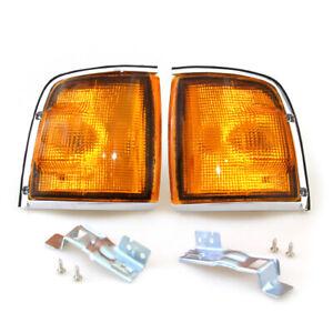88 - 02 ISUZU TF TFR RODEO VAUXHALL BRAVA CHROME SIDE TURN LAMP LIGHT PAIR LH/RH