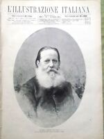 L'illustrazione Italiana 18 Febbraio 1883 Luigi Borbone Caracalla Ballo Milano