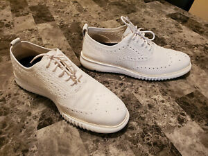 Cole Haan 2.ZEROGRAND Laser Wingtip Oxford White Stitchlite Men's Shoes Size 9.5