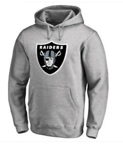 Las Vegas Raiders Hoodie Men's NFL Fanatics Logo Hoodie - Grey - New