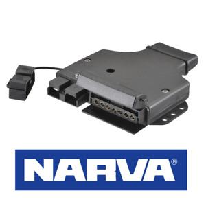 82048BL - NARVA 7 pin flat trailer socket with Anderson Plug