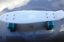"Banana board mini Cruiser style Skateboard White/Blue ""Best Price save heaps"""