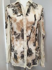 Maude For Anthropologie Sheer Blouse Sz L Long Sleeve Gorgeous Detailing