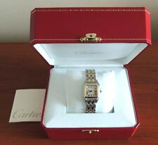 Cartier Panthere Mid-Size 27mm Two Row 18K Yellow Solid Gold / SS Date Watch & B