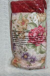5 Piece Kitchen Pot Holder Mitten Set with Towel Floral Design Sku 00615Y