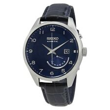 NEW SEIKO KINETIC RETROGRADE 5 MONTH POWER RESERVE BLUE DIAL WATCH SRN061P1