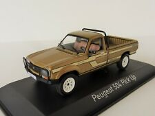 PEUGEOT 504 Pick-Up 4x4 DANGEL 1985 1/43 Norev 475457 Pickup Beige Metallic