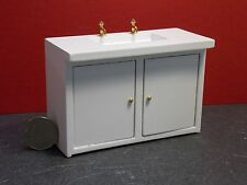Dollhouse Miniature White Modern Sink 1:12 one inch scale E54 Dollys Gallery