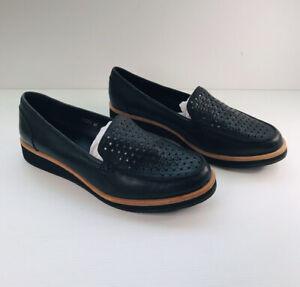 Midas Women's Cesti Black Leather Flat Shoes - Size 37