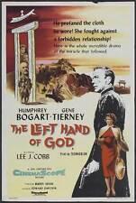 THE LEFT HAND OF GOD Movie POSTER 11x17 UK Humphrey Bogart E.G. Marshall Lee J.