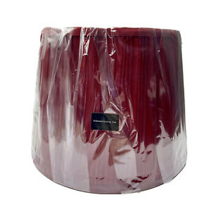 Set of 2 Urbanest Living Pleated Lampshades-Burgundy/Red Wine 10X9