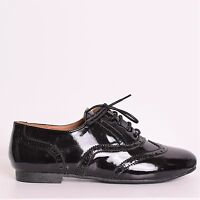 LADIES FLAT BALLET BALLERINA PUMPS LACE UP SCHOOL WORK DOLLY T BAR SHOE SIZE 3-8