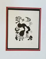 """Joan Miro """"Album 13 Plate 76"""" Matted offset Lithograph Limited Ed. 1972"""