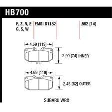 Hawk Performance HB700N.562 HP Plus Front Disc Brake Pad Fits 06-07 Impreza WRX