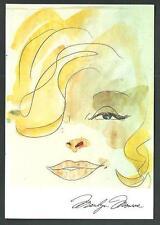 Marilyn Monroe : Disegno di Hugo Pratt - cartolina formato 10 x 15 ( circa )
