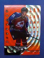 1997-98 Pinnacle Epix Orange Play #E14 Peter Forsberg Colorado Avalanche Insert