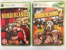2 X PAL Completa Juegos De Xbox 360 Borderlands 1 + # 2