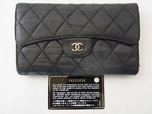 Auth WL05 CHANEL Matelasse Try-fold wallet junk from Japan