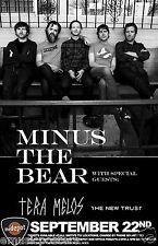 MINUS THE BEAR / TERA MELOS / NEW TRUST 2013 SALT LAKE CITY CONCERT TOUR POSTER