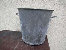 Ancienne bassine zinc vintage déco jardin pot  fleur galva brocante