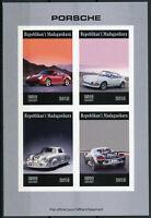 Madagascar 2019 MNH Porsche 4v IMPF M/S Cars Stamps