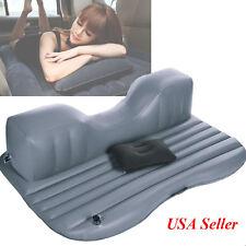 USA Inflatable Travel Camping Car Seat Sleep Rest Mattress Air Bed+Pillow -Black