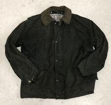 MENS WAX OIL COAT JACKET WORLD CLOTHING MID LENGTH SIZE L (13)