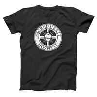 Sacred Heart Hospital Funny Nurse Medical Scrubs Show Black Basic Men's T-Shirt