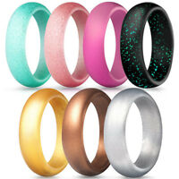 7pcs/Pack Men Women Silicone Wedding Ring Rubber Band Casual Sport Gym Gift