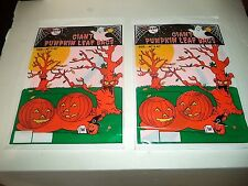 Two Halloween Giant Pumpkin Leaf Bags 40 Inches x 42 Inches