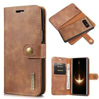 RFID Anti-theft Genuine Leather Wallet Case For Samsung Galaxy S9 S8+ S7 Note 8