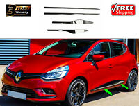 RENAULT CLIO IV 2012> CHROME SIDE DOOR STREAMER TRIMS 4 PCS STAINLESS STEEL