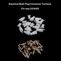6.3mm Steckverbinder 2/3/4/6/8-polig Set Mehrfachsteckverbinder Stecker + Buchse