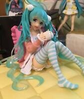 New in Box Hatsune Miku Pajamas sitting position PVC Action Anime Figure Toy