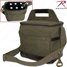 Rothco Canvas & Leather Insulated Travel Cooler Bag - Perfect For Soda Beer Food