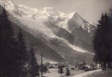 France Chamonix Mont Blanc Alpes old PZ Photo 1900
