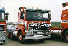 Heavy Haulage Truck Photograph Volvo F12 Heanor Haulage JHJ475Y 6x4 Artic Unit