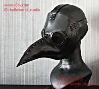 1:1 Halloween Costume Cosplay Movie Prop Leather Dr. Dr Plague Doctor Mask  GL03