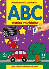 Preescolar Pegatinas Libro De Actividades ABC aprendizaje LOS ALFABETOS 201 /