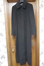 NWT Calvin Klein collection Long Cashmere Coat Black Size 6