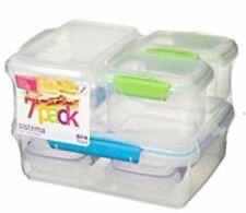 Bargain Sistema Plastic 7 Piece Container Set Assorted Colours, tupperwares