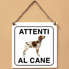 Epagneul Breton 3 Attenti al cane Targa cane cartello ceramic tiles